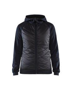 Dames hybride sweater Donker marinebla