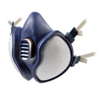 3M Gas- en dampmasker A1P2D - Onderhoudsvrij Halfgelaatsmasker