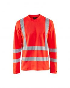UV-T-shirt High Vis 8948 Fluor Rood