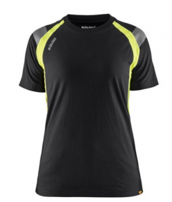 Visible Dames T-shirt Zwart/High Vis G
