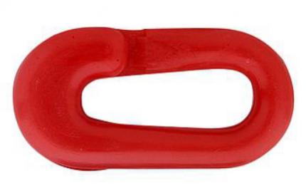 Kunststof noodschakel, 6mm, rood