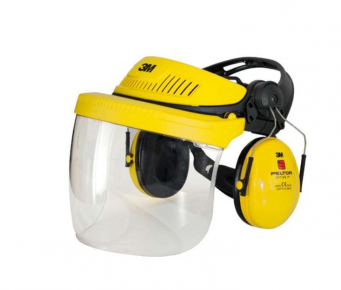 3M™ PELTOR™ G500 combinatie met optimale gehoorkap en 5F-11 vizier