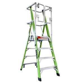 Safety Cage platformtrap kunststof 4 treden, stahoogte 1m14