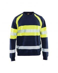 Multinorm sweatshirt 3459 Marineblauw/Geel