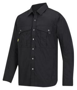 Ripstop shirt Snickers zwart
