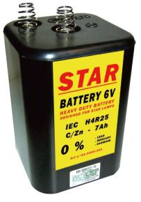 Blokbatterij lamp 6V