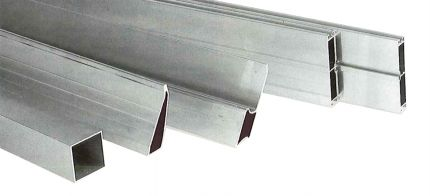 Alu rij trapezium 1,2mm 250cm