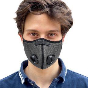 Breezy mondmasker zwart M