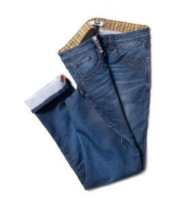 Dike paint trousers denim blue