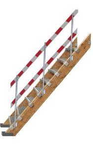 Paal + ondersteuning voor bouwtrap