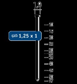 Minibrads f18 staal-galva 7000st.