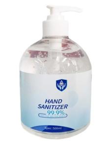 Handgel met pomp 500ml, 75% alcohol