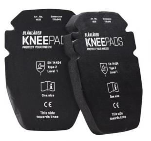 Knie-inlegstukken Gel 25 mm 4032 Zwart onesize