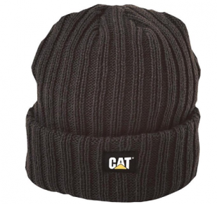 CAT ribbed beanie black