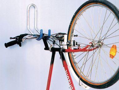 Muurhaak fiets kunststof  geplastificeerd