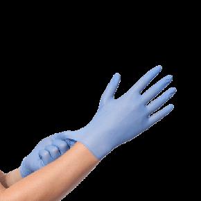 Nitril wegwerphandschoenen blauwpoedervrij XL (100 stuks)