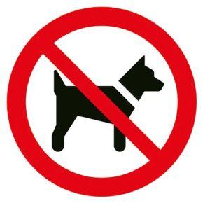 Bord rond 180 mmVerboden voor honden