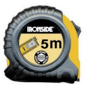 Rolmeter 8mx25mm  ABS/rubber + autolock