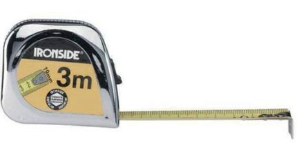Rolmeter 3Mx19Mm Verchroomd Abs