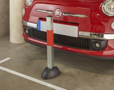 Parking paal 50 x 50 mm – H 600 mm gelijksluitend