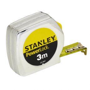 Stanley rolbandmaat powerlock metaal 3m