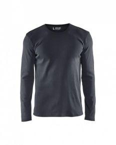 T-shirt longsleeve katoen d.grijs