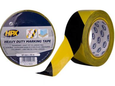 Markeringstape geel/zwart, 48mm X 33m