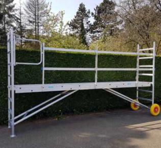 Solide Werkbrug tuinsteiger met leuningen & klapdeur (exclusief frames, wielen & onderframe)